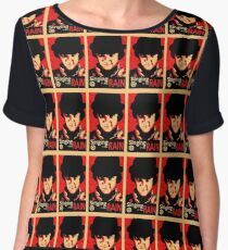 Red Clockwork Women's Chiffon Top