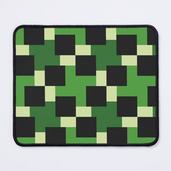 Green abstract geomtric block pattern Mouse Pad