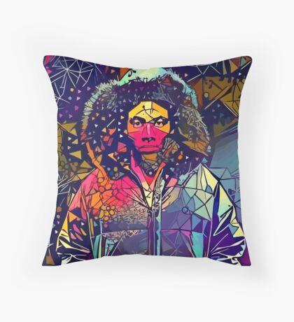 Abstract Hooded Gambino Throw Pillow