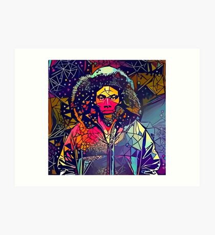 Abstract Hooded Gambino Art Print