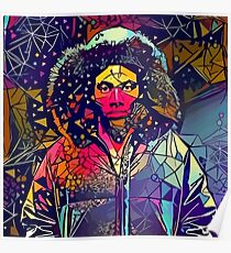 Abstract Hooded Gambino Poster