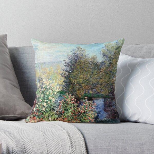 Claude Monet Corner of the Garden at Montgeron Throw Pillow