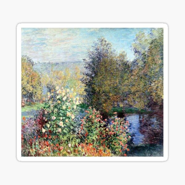 Claude Monet Corner of the Garden at Montgeron Sticker