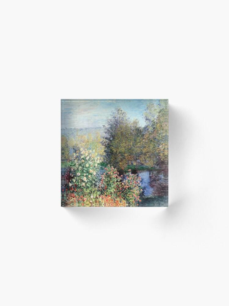 Alternate view of Claude Monet Corner of the Garden at Montgeron Acrylic Block