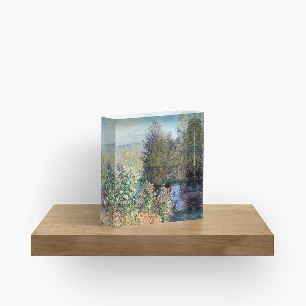 Claude Monet Corner of the Garden at Montgeron Acrylic Block