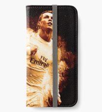 Cristiano Ronaldo 'CR7' Fire Design iPhone Wallet/Case/Skin