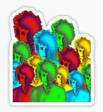 Bob Dylan Psychedelic art Sticker