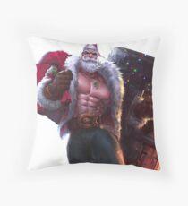 Santa Braum League Of Legends Throw Pillow