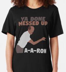 Camiseta ajustada Key and Peele - Ya hecho desordenado AA-Ron