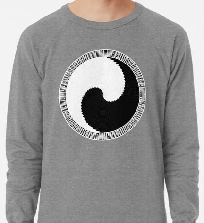 I Ching 004 - Work in Progress - White Background Lightweight Sweatshirt