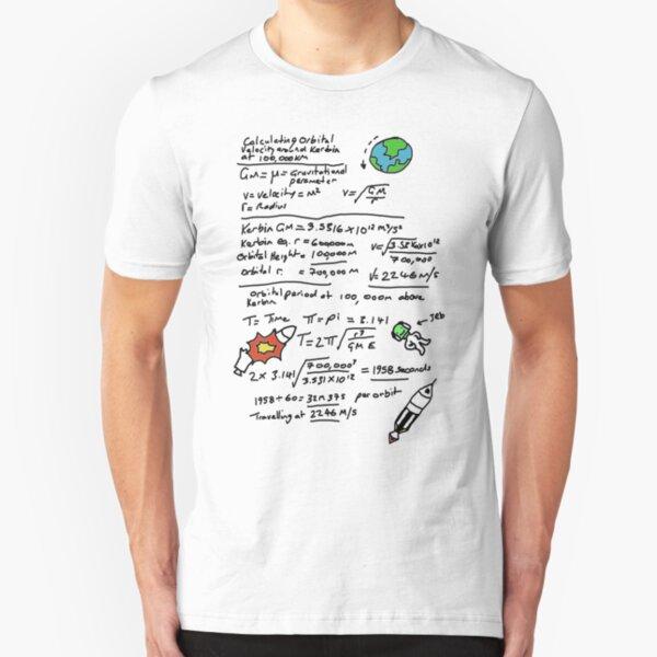 Kerbal Orbit Science 1 Slim Fit T-Shirt