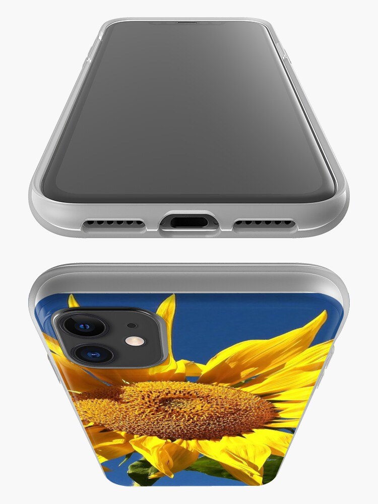 Alternate view of Sunflower and Blue Sky iPhone Case & Cover