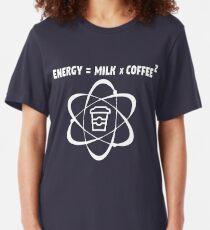 Coffee - Energy = Milk x Coffee 2 Slim Fit T-Shirt