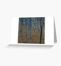 Gustav Klimt Beech Grove Greeting Card