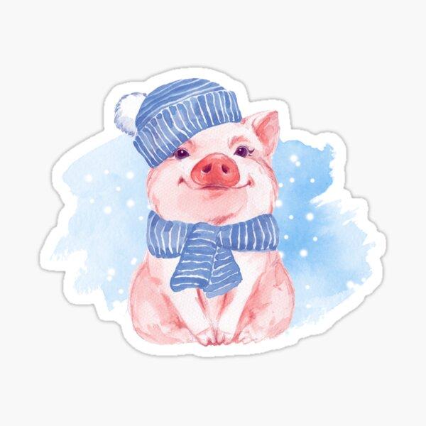 Piglet. Winter Sticker