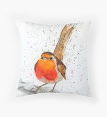 Robin's Landed Throw Pillow