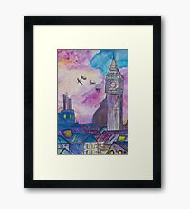 Neverland (Watercolor Painting)  Framed Print