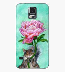 Squirrel Presenting Peony Case/Skin for Samsung Galaxy