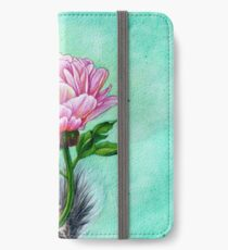 Squirrel Presenting Peony iPhone Wallet/Case/Skin