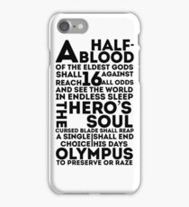 Percy Jackson and the Olympians - The Great Prophecy  iPhone Case/Skin