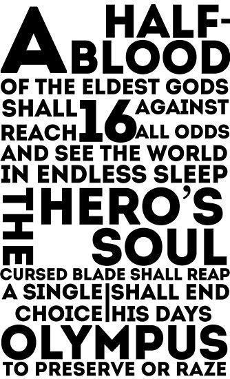 Percy Jackson und die Olympier - Die große Prophezeiung von dragonlxrd