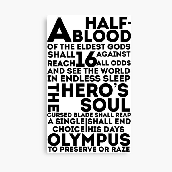 Percy Jackson and the Olympians - The Great Prophecy  Canvas Print