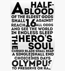 Percy Jackson and the Olympians - The Great Prophecy  Poster