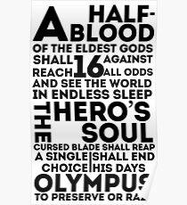 Póster Percy Jackson y los atletas olímpicos: la gran profecía