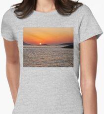 Rhodes Sunset Womens Fitted T-Shirt