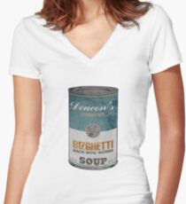 Deacon's Bizghetti Women's Fitted V-Neck T-Shirt