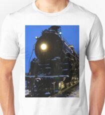 Santa Fe 4-8-4 Steam Train In The Snow Unisex T-Shirt