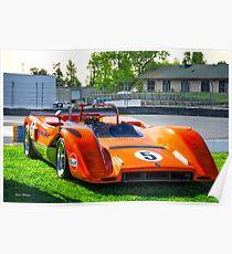 1971 McLaren MBE 80-03A Can Am Race Car Poster
