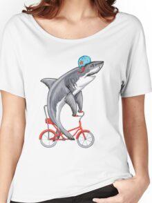 Cycling Shark  Women's Relaxed Fit T-Shirt