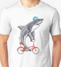 Cycling Shark  Unisex T-Shirt
