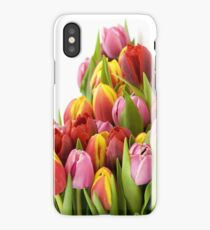 Beautiful Tulip Flowers iPhone X Case