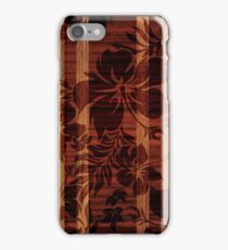 Keokea Beach Faux Wood Hawaiian Surfboard  iPhone Case/Skin