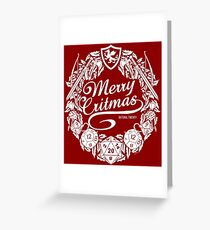 Merry Critmas - White Version Greeting Card