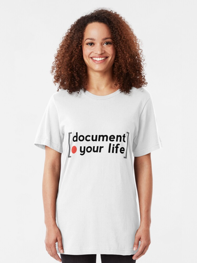 Alternate view of Document Your Life Slim Fit T-Shirt