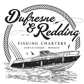 Dufresne & Redding Fishing Charters (aged look) by KRDesign