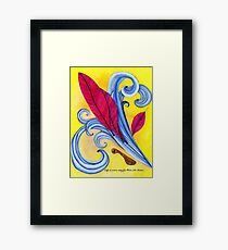 Autumn Wind in Yellow Framed Print