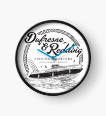 Dufresne & Redding Fishing Charters (aged look) Clock