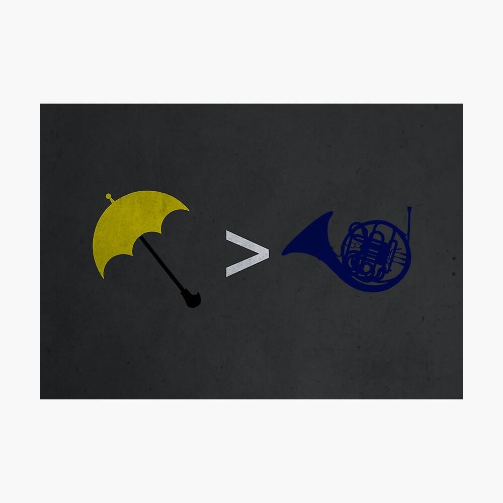 Yellow Umbrella Wins Fotodruck