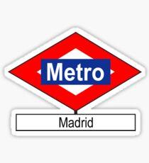 Placa Metro Madrid Sticker