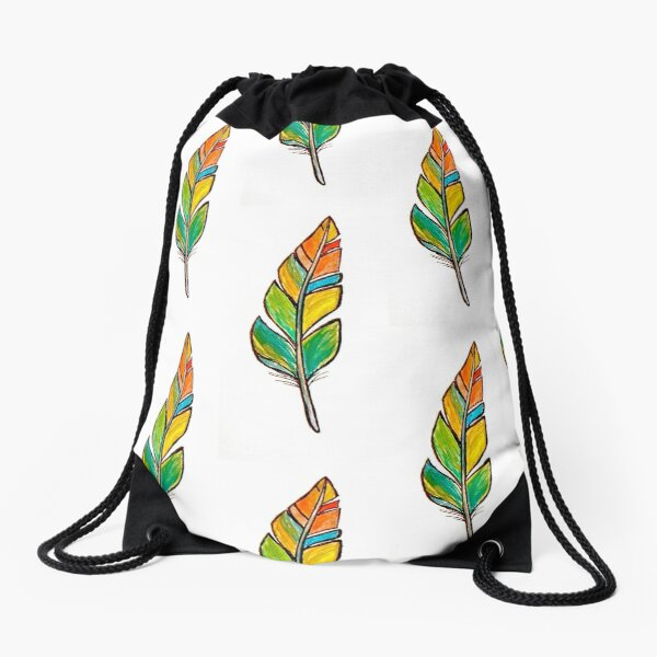 Feather Friend Drawstring Bag