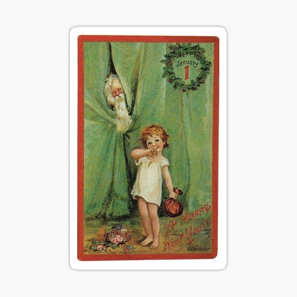 New Year's Postcard Sticker