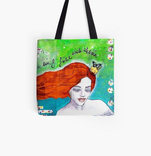 Fühl dich schön Allover-Print Tote Bag