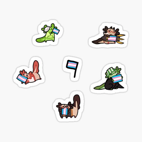 Dream smp transexual flag axolotls  Sticker