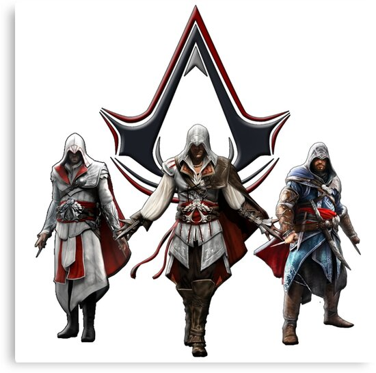 ezio auditore the best assassin canvas prints by nloony redbubble