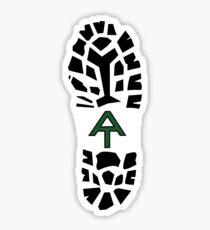 Pegatina Appalachian Trail Boot Print- Verde