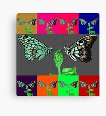 Butterflies Flirting Canvas Print